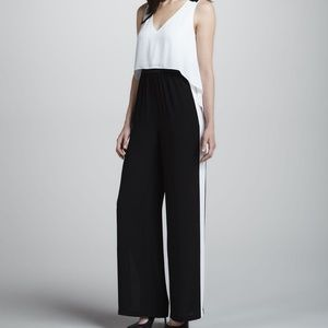BCBGMAXAZRIA Black and White Jumpsuit